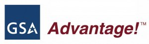 Blue and red GSA Advantage logo
