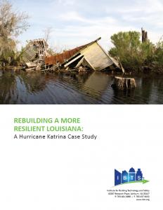 Rebuilding a More Resilient Louisiana: A Hurricane Katrina Case Study