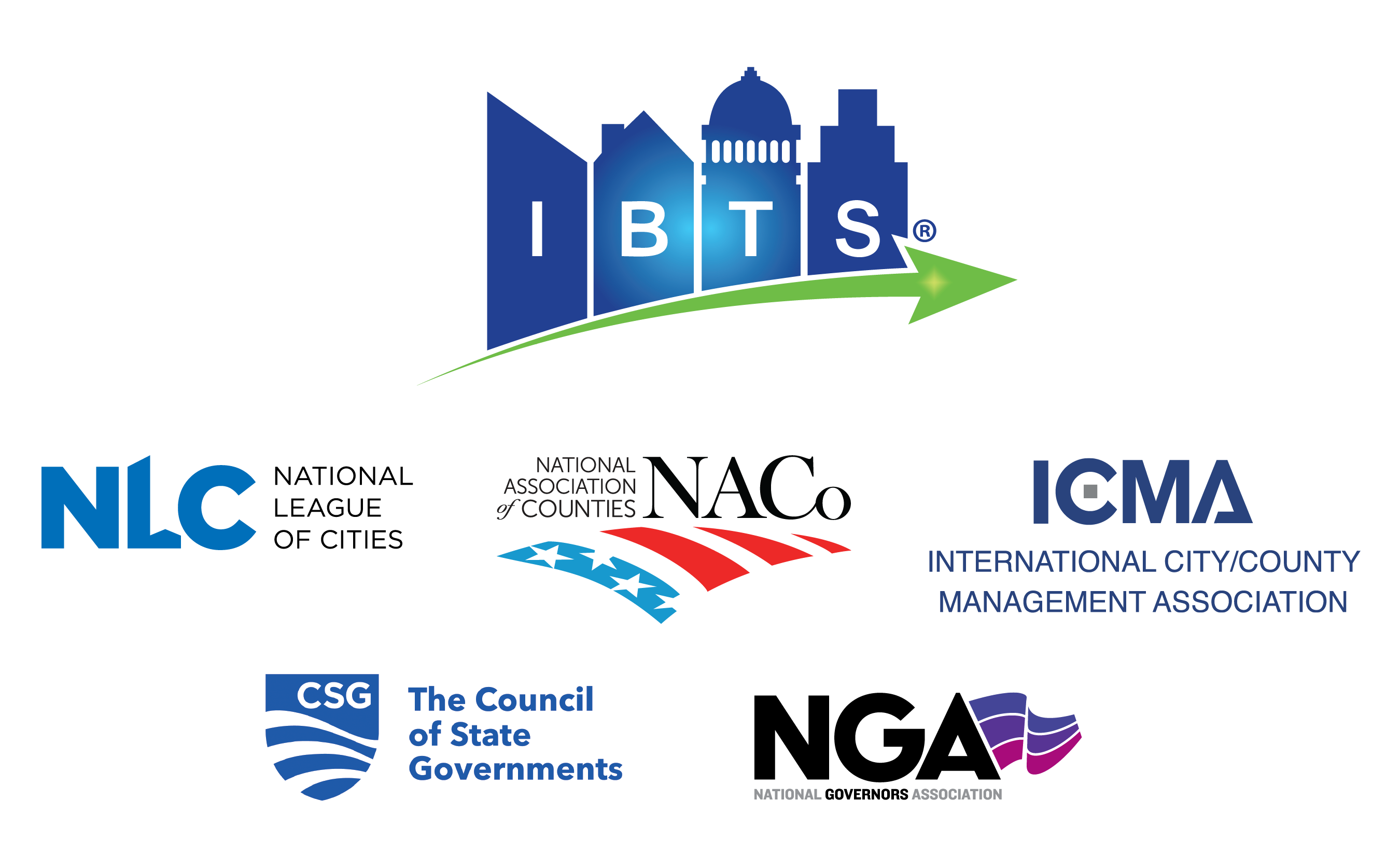 IBTS logo with its board appointing association logos arranged beneath it.